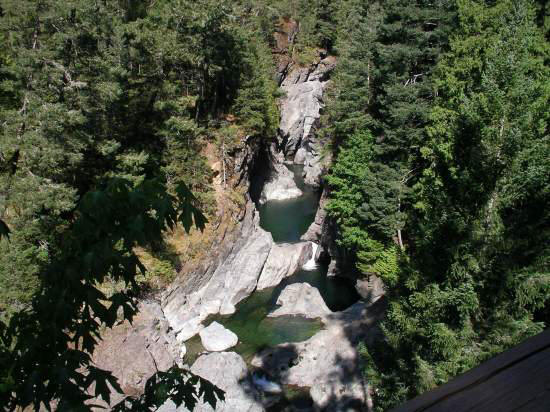 Sooke River flowing through the Deertrail property