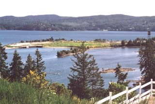 view of Sooke harbour